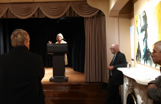 Leslie M. Nolan Artist Remarks at Arts Club of Washington With Curator Erich L. Keel Third From Left