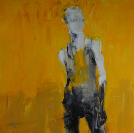 """Yellow Alert"" by Washington, DC artist Leslie Nolan"