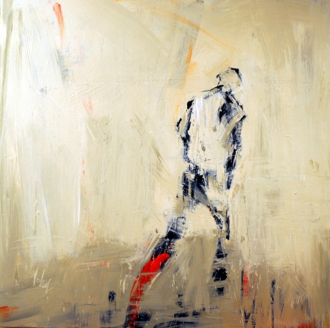 "Washington, DC Artist Leslie Nolan's ""Choose To Walk Here"" 36""x36""x2 1/2"" acrylic on canvas"