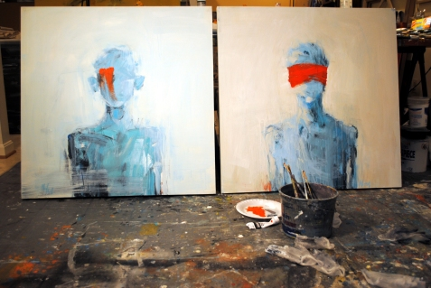 Leslie M. Nolan's work in the studio