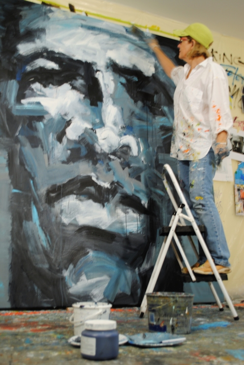 Leslie Nolan, Washington, DC Artist, Working In the Studio