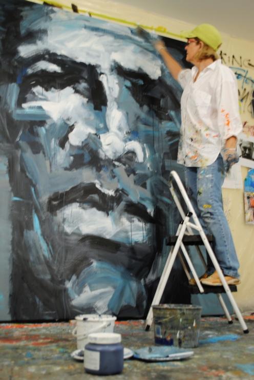 Leslie Nolan, Washington, DC Artist, Working In the Studio