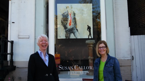 Leslie Nolan (right) with Susan Calloway, owner of Susan Calloway Fine Arts in Georgetown
