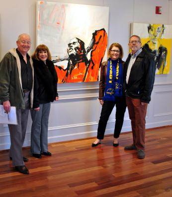 Washington, DC Artist Leslie Nolan at Strathmore Mansion in Bethesda, MD